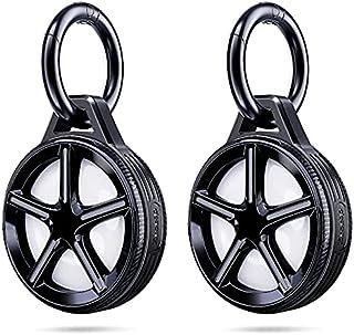 [2 Pack] Ztotops Case met sleutelhanger voor AirTag Key Finder, Wheel Style Houder, Uitgebreide bescherming, Sterk en veil...