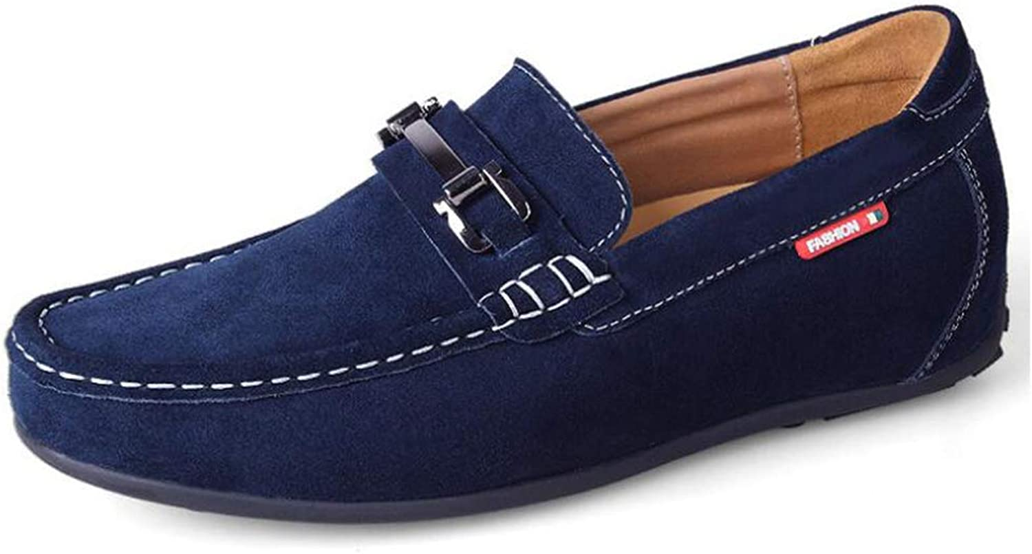 Y-H Mens shoes,Loafers Flat Oxfords Casual shoes, Soft Sole Lightweight Formal Business Work Comfort Driving shoes,bluee,38