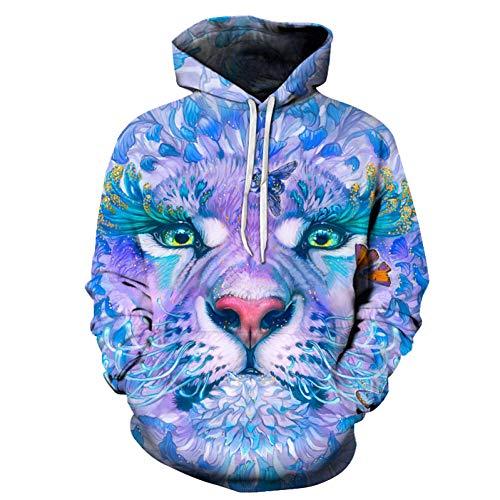 HNKPWY sweatshirt met capuchon 3D flower vlinder sweatshirt bedrukt heren dames pullover pak heren mantel outwear