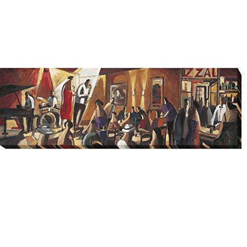 Quartet by Didier Lourenco Premium Tela emoldurada arte giclée (40,64 cm x 122 cm, pronta para pendurar)