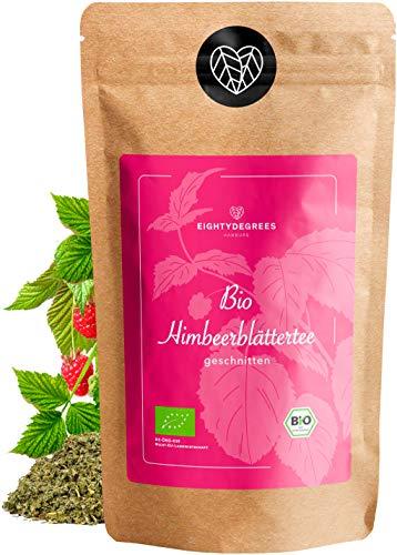 BIO Himbeerblättertee - Schwangerschaft - lose bio Himbeerblätter, geschnitten - 100% naturbelassen, Bio - Kräutertee - abgefüllt und kontrolliert in Deutschland - 80g | 80degrees