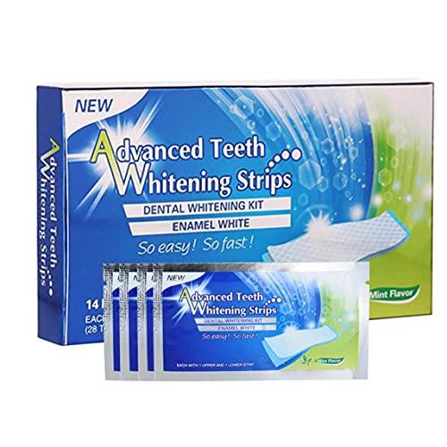 Whitening Zahnpasta Streifen Zähne Reduzierte Sensitive 3D weiße elastische Gel Mundhygiene Doppel Elastic für Entfernen von Flecken 14pairs