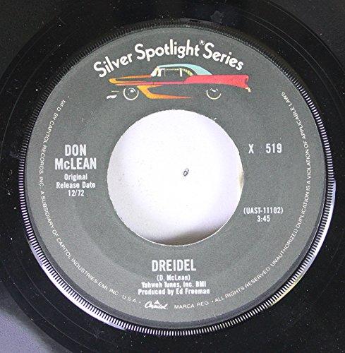 Don McLean 45 RPM Dreidel / Vincent