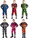 Wulfsport MOTORRADKOMBI Aztec 2019 Kinder Motorrad Anzug Motocross ATV Quad Cross Rennen MX Hose e Hemden Sport Bekleidung (Mehrere Farben) (Blau,8-10 Jahre, 24-Taille)