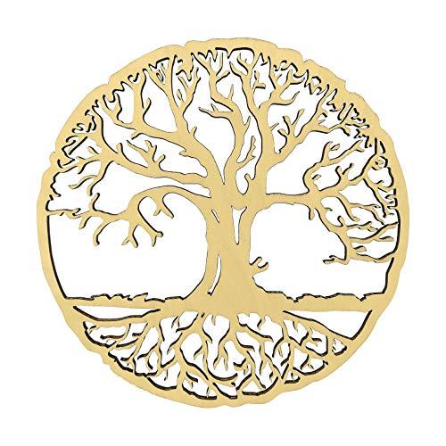 HOLZBIBER® Baum des Lebens 20 cm Durchmesser Made In Germany Holz Ausschnitt zum Aufhängen Fensterschmuck Wandschmuck Amulett
