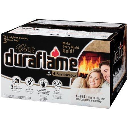 Duraflame 4577 Ultra-Premium Firelogs, 4.5-Pound, 6-Pack