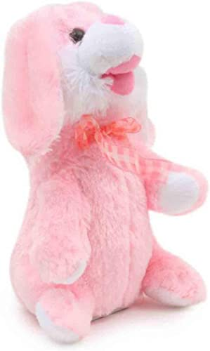 Dancing & Singing Plush Rabbit Music Soft Toy Rabbit Ears Hands Moves Up Down-Pink