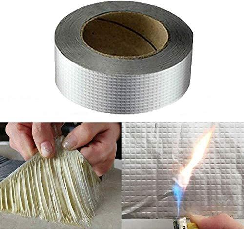 Cinta de butilo de papel de aluminio Sellado impermeable Cinta autoadhesiva, Profesional Potente Cinta para exteriores Resistente a los rayos UV Para color Acero Teja Teja Tubo de cocina (10cm*5m)