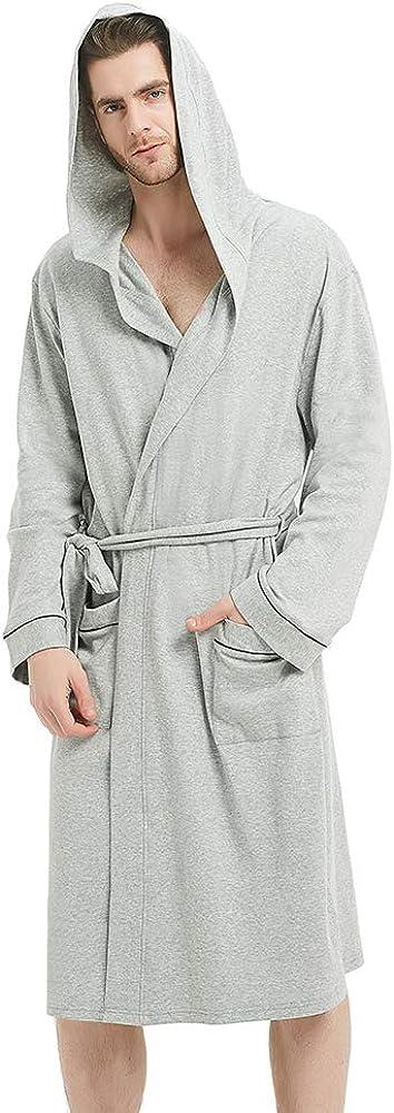 Charlotte Mall U2SKIIN Mens Cotton Robe Lightweight Bathrobe Attention brand Knit