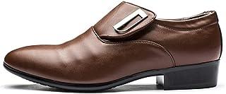 Dingziyue scarpe casual, scarpe da uomo, pelle morbida, scarpe da uomo, scarpe da lavoro (colore : marrone, Taglia : 46)