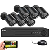 maisi 1080p <span class='highlight'>CCTV</span> Camera Security <span class='highlight'>System</span>, 6pcs 2MP <span class='highlight'>HD</span> Outdoor Cameras, 8CH 2MP DVR Recorder( Email Alerts, Motion Detection, APP Viewing, Day/Night Vision, Vandal-Proof, <span class='highlight'>HD</span>D Not Included)