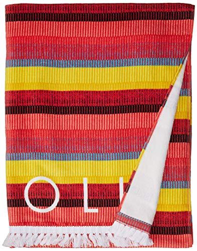 Seafolly Damen Large Printed Beach Towel Sunhat, Fransen Benefits Safran, Einheitsgröße