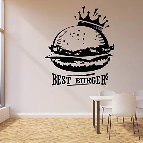 La mejor etiqueta de la pared de la hamburguesa, etiqueta engomada del vinilo de la decoración del café de la comida rápida