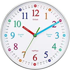 🕘 CLEAR & EASY TO TEACH FOR LEARNERS OF ALL ABILITIES AND AGES! We made this wall clock easy to understand for children, bright and engaging but not distracting so your child will learn faster and easier than traditional methods of teaching 🕚 PERFECT...