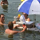 Eye level beverages! Connectable and upgradable Provides shade in the water Durable HDPE (hard plastic) Made in USA