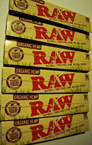 Raw–Papel de fumar fino, orgánico, de gran tamaño–10unidades