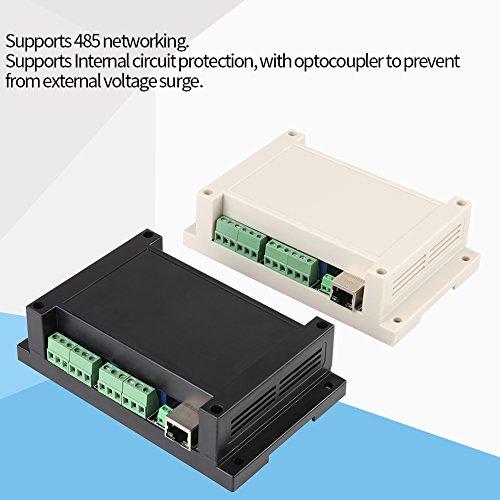 Ethernet RJ45 TCP/IP Relais Remote Control Controller Netzwerk Web Server 8 Kanäle Relais Modul Bord 250 V/AC 10A mit Fall(Schwarz)