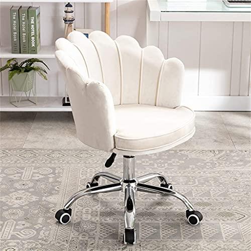 Silla de ordenador elevadora, silla cómoda para el hogar, silla giratoria de oficina minimalista, silla de sofá desmontable y de limpieza, tamaño: 43x44x85cm.