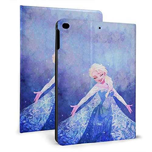 Funda para iPad Air 1/2, Fantasy Fro-Zen El-Sa Funda protectora de cuero, Tablet Ipad 2017/2018 Carcasas 9.7 pulgadas