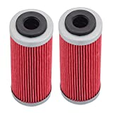 Tvent 2Pcs HF652 652 Oil Filter 773.38.005.100 Replacement for 350 400 450 500 530 EXC-F SX-F XC-F XCF-W FACT. ED 2008-2018 5X 77338005100