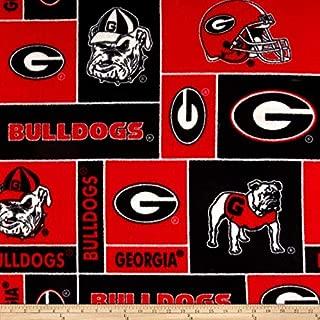 College University of Georgia Bulldogs 012 Print Fleece Fabric By the Yard