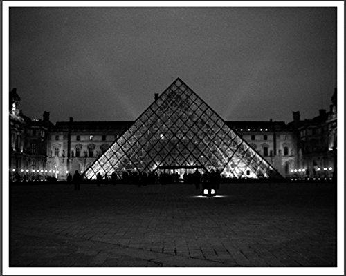 Louvre Pyramid, Paris Black and White Photography Wall Art Photo Print, 8x10