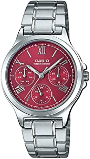 Casio Womens Quartz Watch, Analog Display and Stainless Steel Strap LTP-V300D-4A2UDF