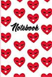 Notebook. Red Heart Emoji. Kiss: Lined journal 6'x9' | Ruled notebook ▪️ Diary ▪️ Notes ▪️ Composition book ▪️ Memory book ▪️ To-do list ▪️ Thoughts ... Eyelashes ▪️ Love ▪️ lips ▪️ beautiful cover