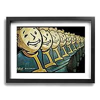 Fallout Boys フォールアウト フレームの絵 背景絵画 家の壁の装飾画 ソファの背景絵画 アートパネル 引き越し ポスター 軽くて取り付けやすい ファッション プレゼント (サイズ30*40cm)