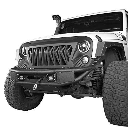 Hooke Road Jeep Tubular Front Bumper W Winch Plate Led Lights For 2007 2018 Jeep Wrangler Jk Unlimited Buy Online In United Arab Emirates At Desertcart Ae Productid 42336451