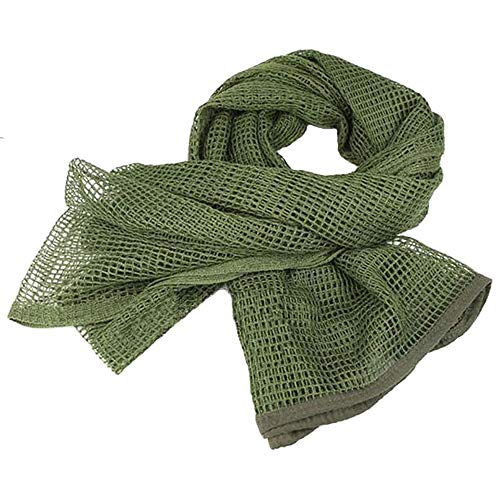 LOOGU Tactical Mesh Net Camo Scarf for Wargame,Sports & Other Outdoor Activities (Green)