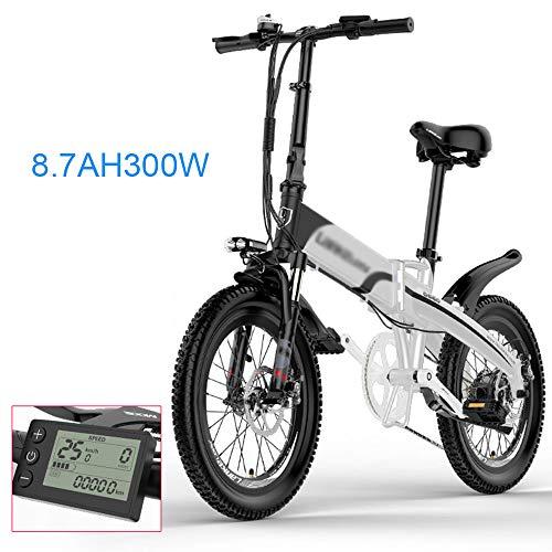 PHASFBJ Bicicleta Eléctrica Plegables, Bicis Electrica con 48V 300W 10.4Ah Batería de...