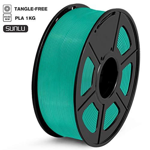 SUNLU Filamento PLA 1.75mm 1kg Impresora 3D Filamento, Precisión Dimensional +/- 0.02 mm, PLA Verde hierba