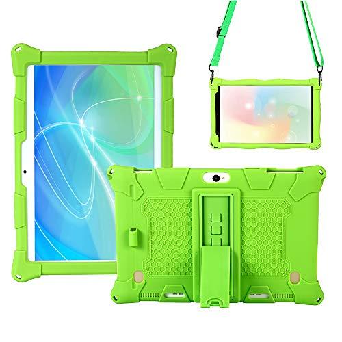 QYiD Funda para Dragon Touch K10 / Notepad K10 / Max10, Ligero EVA Protectora Carcasa para niños con Soporte & Bandolera para Lectrus 10.1, Victbing 10, Hoozo 10, Winsing 10, ZONKO 10.1, Verde