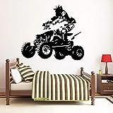 WERWN ATV Rider Pegatina de Pared Quad Bike Vinilo Arte decoración de Pared hogar Dormitorio Bicicleta Pegatina de Pared