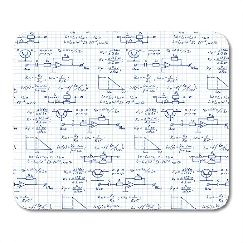 """Emvency Mouse Pads Physics Electronic Engineering Mathematics Equation and Calculations Endless Scientific Technology Mousepad 9.5"""" x 7.9"""" for Laptop,Desktop Computers Office Supplies Mouse Mats"""