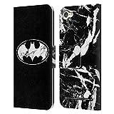 Head Case Designs Oficial Batman DC Comics Mármol Logotipos Carcasa de Cuero Tipo Libro Compatible con Apple Touch 6th Gen/Touch 7th Gen