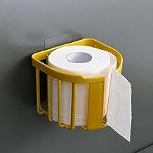 Toiletpapierrolhouder, Moderne Tissue Roll Dispenser Rond voor Badkamer Keuken Wasruimte -geel