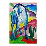 CanvasArts Blaues Pferd - Franz Marc - Poster (80 x 60 cm,