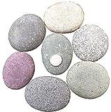 YIERMA Piedras planas naturales grandes, guijarros/rocas para pintar y jardín, piedra decorativa lisa natural para jardín o acuario, 10-13 cm