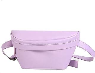 Womens Shoulder Bag Candy Color Fashion Trendy Pocket (Color : Purple)