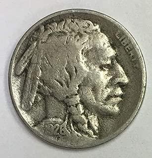 1926 S Indian Head or Buffalo Nickel Average Circulated 5c G-VG
