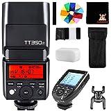 GODOX TT350P Mini Cámara Flash con XPRO-P Disparador 2.4G HSS 1 / 8000s TTL GN36 Compatible para Pentax Cámaras 645Z K3II K1 K50 KS2 K70 20 Filtro de Color (TT350P+XPROP)