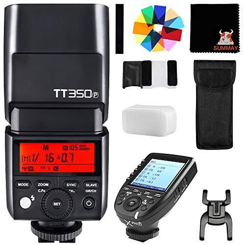 GODOX TT350P Mini Cámara Flash con XPRO-P Disparador 2.4G HSS 1 /...