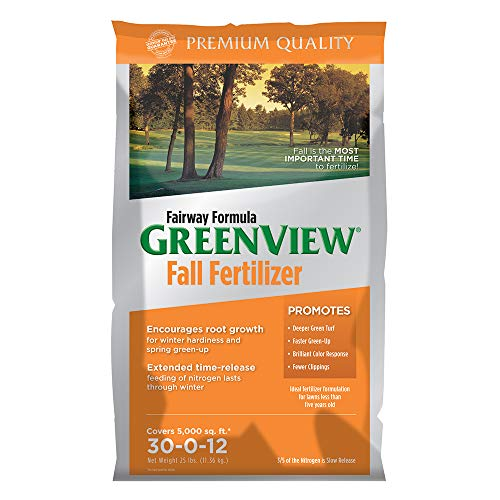 GreenView 21-29175 Fairway Formula Fall Lawn Fertilizer-25 lb, 25 lb. -Covers 5,000 sq. ft