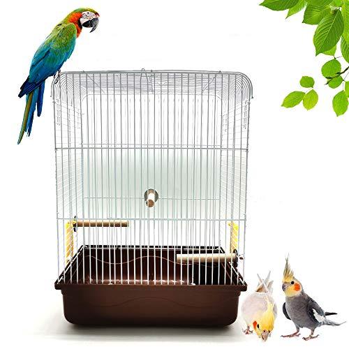 Gifty 鳥かご 止まり木 3本つき インコ 手のり バードゲージ 飛び散り防止 セキセイインコ オカメインコ 鳥 ケージ