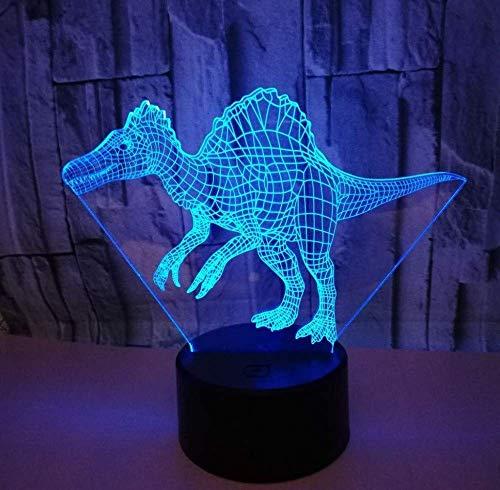 Ilusión 3D Lámpara De Dinosaurio Con Luz Nocturna Decorativa Lámpara De Dinosaurio En Forma De 3D Lámpara De Ilusión De Acrílico 3D Lámpara De Ilusión De Regalo 3D Lámpara De Mesa Pequeña