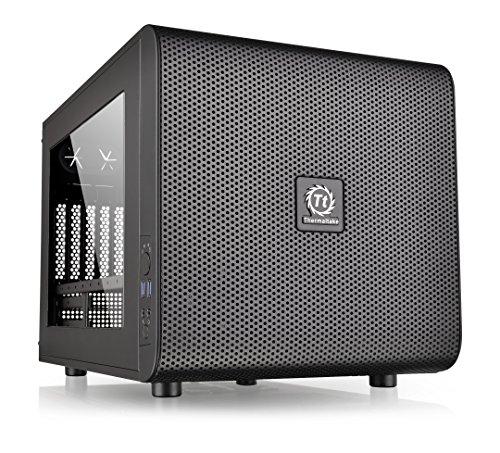 Thermaltake Core V21 Cubo Negro carcasa de ordenador - Caja de ordenador (Cubo, SPCC, Micro-ATX,Mini-ITX, Negro, 18,5 cm, 35 cm)