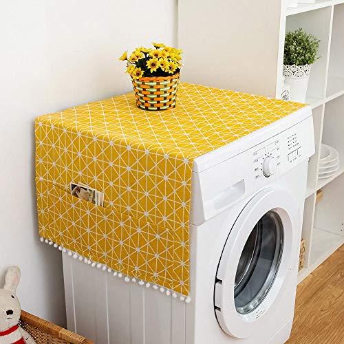 Raguso Cubierta para el polvo de la nevera multiusos de color blanco, de algodón y lino, para aire acondicionado vertical (70 x 170 cm)