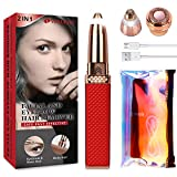 Eyebrow Trimmer & Facial Hair Remover for Women, 2 in 1 Eyebrow Razor and Hair Remover, Rechargeable Painless Eyebrow Lips Nose Body Facial Hair Removal for Women with Built-in LED Light